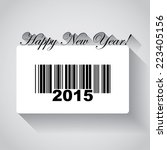 happy new year 2015 in barcode  ... | Shutterstock .eps vector #223405156