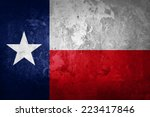 Texas Flag And Wall Background