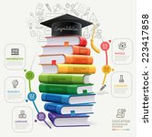 books step education... | Shutterstock .eps vector #223417858