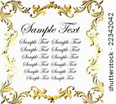 vector gold floral border with... | Shutterstock .eps vector #22342042