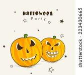 happy halloween party...   Shutterstock .eps vector #223430665