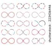 set of different infinity... | Shutterstock .eps vector #223436446