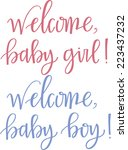 welcome  baby | Shutterstock .eps vector #223437232
