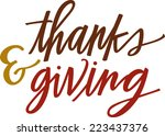thanks   giving | Shutterstock .eps vector #223437376