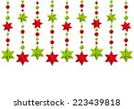 christmas starry decorations on ...