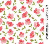 floral seamless pattern on... | Shutterstock .eps vector #223443175