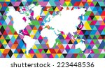 vector abstract map of the... | Shutterstock .eps vector #223448536