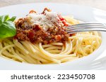 Spaghetti With Bolognese Sauce...