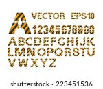 vector alphabet set | Shutterstock .eps vector #223451536