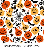 halloween background of... | Shutterstock .eps vector #223452292