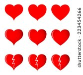 hearts  simple  shaded and... | Shutterstock .eps vector #223454266