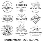 vector bicycle badges and... | Shutterstock .eps vector #223460296