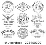 vector bicycle badges and... | Shutterstock .eps vector #223460302