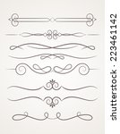 calligraphic decorative... | Shutterstock .eps vector #223461142