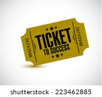 ticket to success concept... | Shutterstock . vector #223462885