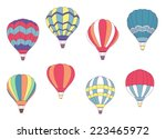 set of colored hot air balloons ... | Shutterstock .eps vector #223465972