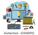 online business ideas ... | Shutterstock .eps vector #223468552