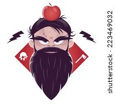 evil man with a long beard and... | Shutterstock .eps vector #223469032