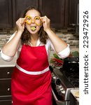 woman cooking with raw... | Shutterstock . vector #223472926