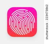 id app icon. fingerprint vector ... | Shutterstock .eps vector #223473862