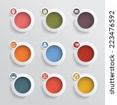 web icons set with spaces for... | Shutterstock . vector #223476592