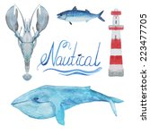 Nautical Watercolor Collection  ...