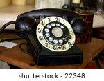 antique rotary dial phone circa ... | Shutterstock . vector #22348