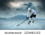 ice hockey player on the ice.... | Shutterstock . vector #223481152