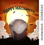 halloween holidays background ... | Shutterstock .eps vector #223483162