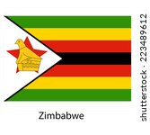 flag  of the country zimbabwe.  ... | Shutterstock . vector #223489612