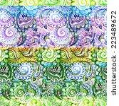 seamless damask ethnic pattern... | Shutterstock . vector #223489672