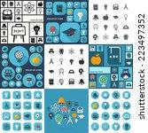 flat concept  set modern design ... | Shutterstock .eps vector #223497352