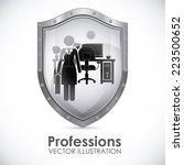 profession design over white... | Shutterstock .eps vector #223500652
