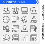 set of thin line business icons. | Shutterstock .eps vector #223500832