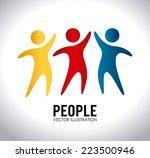 people design over white... | Shutterstock .eps vector #223500946