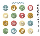 law long shadow icons  flat...   Shutterstock .eps vector #223506556