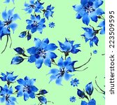 seamless pattern of delicate... | Shutterstock . vector #223509595