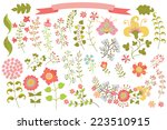 cute set of floral stylized... | Shutterstock .eps vector #223510915