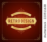 vintage label template. retro... | Shutterstock .eps vector #223511638