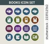 book icon set | Shutterstock .eps vector #223512562