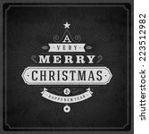 christmas tree typography from... | Shutterstock .eps vector #223512982
