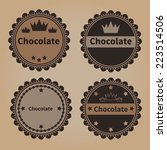 vintage chocolate badges | Shutterstock .eps vector #223514506