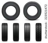 vector tyre icons | Shutterstock .eps vector #223521472