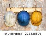 three construction helmets... | Shutterstock . vector #223535506