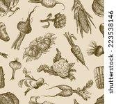 pattern of the vegetables | Shutterstock .eps vector #223538146