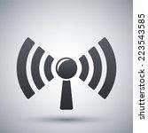 broadcasting icon  vector | Shutterstock .eps vector #223543585