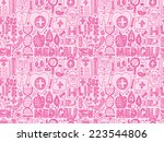 seamless doodle medical pattern | Shutterstock .eps vector #223544806