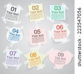 business paper labels for... | Shutterstock .eps vector #223547056