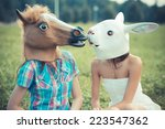 Mask Horse And Rabbit Women...