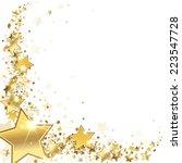 Frame Gold Stars On A White...